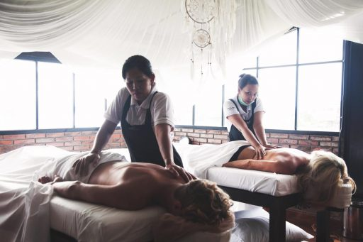 Enjoy a massage in on e of our private massage rooms.
